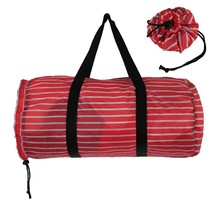 2015 new promotional high quality polyester printed fabric folding travel bag