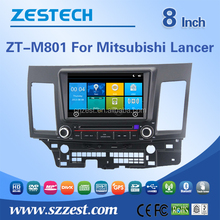8'' touch screen car dvd for mitsubishi lancer with gps/radio fm/usb/bluetooth