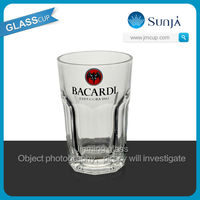SH347 Bacardi Famous Superior glass cup promotional Bacardi Wine glass cup Drinking Whiskey Glasses Drinking Cups