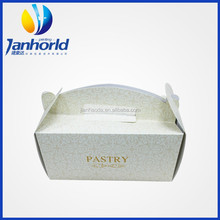 high quality paper cardboard cute paper cake box with handle