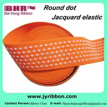 Dot orange fashion jacquard elastic band 45mm 55mm for fashion belt