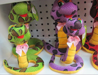 14cm colorful and long plush snake