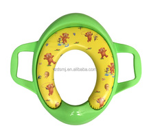 Mother/baby/kids/children care Memory foam diapers WC cushion Removable padded toilet/potty seat cover with green color handle