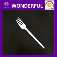 Classical disposable plastic cocktail forks with long handle