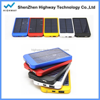 2600mah Universal Portable Mobile Solar Charger Solar Power Charger in 4 Colours