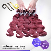 Top Quality Tangle Free Women Color Samples With Red Hair