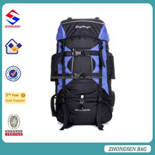 Large capacity polyester 80L cool backpacks professional mountaineering backpacks