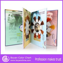 Manufactuer new fashion hair color swatch hair color chart for hair dye