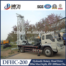 Manufacturer of 200m Truck-mounted Water Well Drill Rig Machines DFHC-200 with Mud Pump