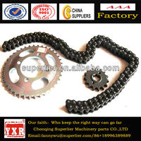Motorcycle chain sprocket price,motorcycle parts chain sprocket,brand guarantee sprocket and chain