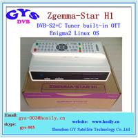 Enigma2 Linux OS Zgemma -tar H1 HD satellite tv receiver with DVB-S2 +IPTV set top box