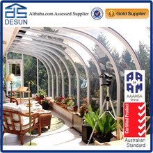 Australian favored freestanding/lowes sunrooms/prefabricated Arch design sunroom