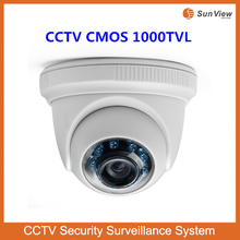 SunView indoor plastic IR dome high image quality mini CCTV CMOS 1000TVL camera