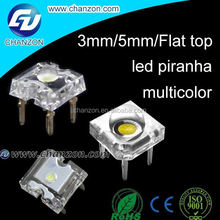 New arrival multicolor color 4-Pin 3mm / 5mm / flat top Super Flux led piranha red yellow blue green white