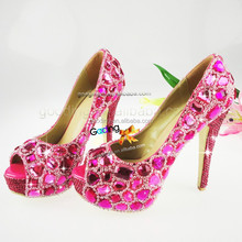Fashion Heels Wholesale Shoes wedding shoes men Handmade Crystal Shoes