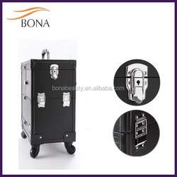 Wholesale Trolly Cosmetic Bag Private Label Aluminum Makeup Case