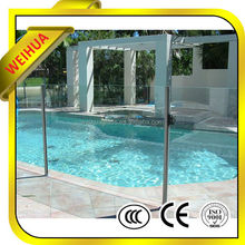 top quality commercial building material tempered glass pool fencing/canopy/staircase railing panels meter price
