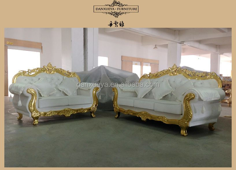 Happy Christmas White Gold Home Furniture French Provincical Style Sectional Sofa Set Buy