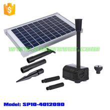 Electricity cost free 5.6ft lifting height 161GPH flow rate dry run and locked rotor protected solar pump (SP10-401209D)