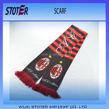 promotional fashional double layers jacquard pattern circular scarf knitting scarf for election