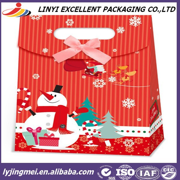 Colorful custom made paper bag christmas gift for sale
