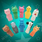 custom educacionais animal e humano de plástico da família fantoche de dedo