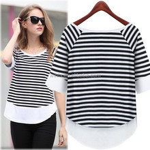 Popular new products o-neck 100% cotton lady t-shirt