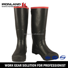Natural rubber gumboots durable rubber cowboy rain boots wholesale