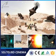 Factory Offer Hydraulic/Electronic Dynamic Gun Shooting 7D Cinema In Guangzhou