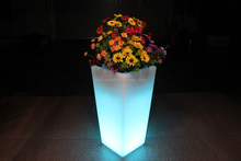 IP68 waterproof infrared remote control led plastic potted plant tray