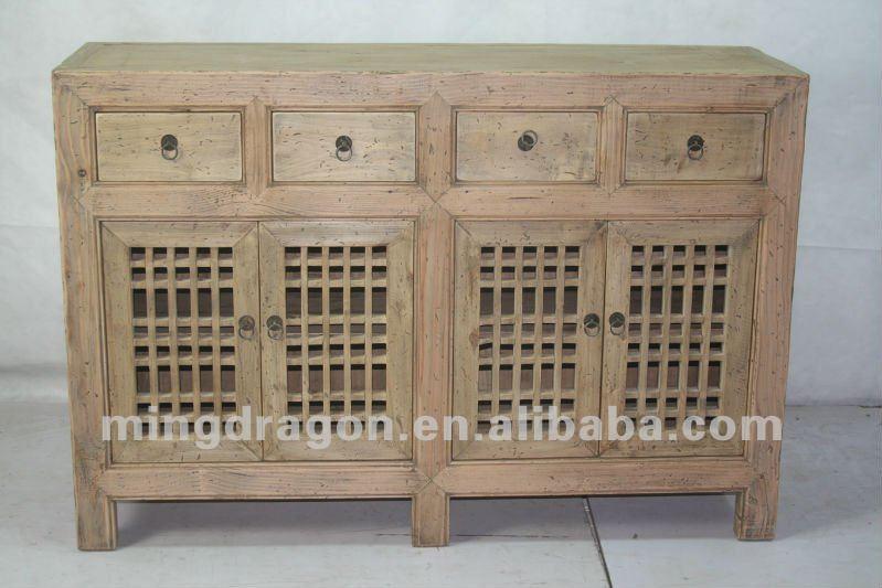 Muebles antiguos chinos shanxi de madera de pino de cuatro - Cajones de madera antiguos ...
