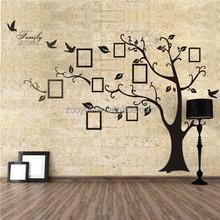 zooyoo94ab pvc çıkarılabilir aile ağacı sticker çıkarılabilir yapışkanlı kağıt ev dekor decal sticker fotoğraf çerçevesi