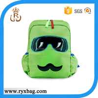 Kids cartoon mustache backpack bag