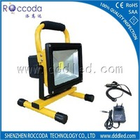 charging 3 hours 10w led rechargeable flood light for led emergency light use