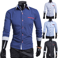 HOT SALE men's shirts, men's casual fit stylish long-sleeved shirt size: M-XXL 9116 Fast Shipping