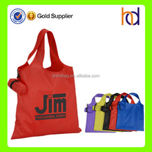 Alibaba manufacturer custom multicolour polyester foldable shopping bag