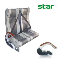 Ergonomic and comfortable metal adjustable armrest for bus seats