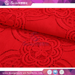 S-win 2132 Model Red Lace Nylon and Cotton Knitted Fashion heavy cotton lace fabric