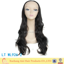 Extra Long Black Wavy Wigs High Temperature kanekalon Manufacturer synthetic fiber hair futura wig