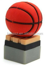 Basketball Shape USB Flash Drive Memory Stick Promotional Gift Factory Price Customized Design Thumb Pen Drives