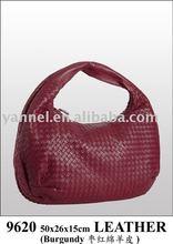2015 Fashion women sheepskin Hobos bag_woven leather handbag_brand handbag
