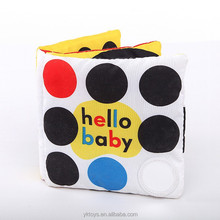 2015 Custom educational soft book cloth toy abc book baby toy