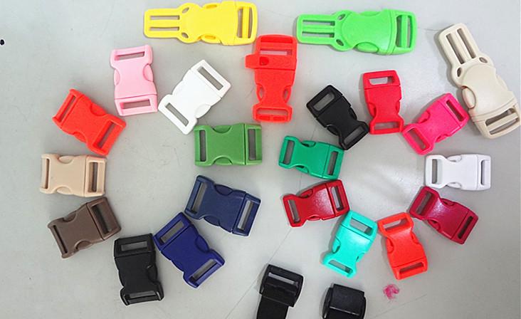 "Multifunctional 3/8"", 1/2'', 5/8'', 3/4' bag ,belt, bracelet plastic buckles"