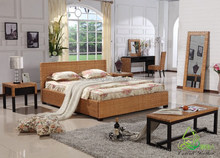 home villa hotel french rattan platform bed