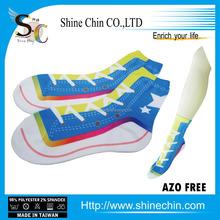 Shoe like socks fashion sneaker printed custom cycling regular socks