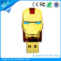 Waterproof function oem 3.0 iron man 256gb usb flash drive
