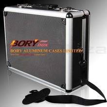 Hard travel hair stylist tool case aluminum tool box storage cases