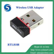 Cheapest 150M 802.11n/g/b RTL8188 mini usb wifi adapter android