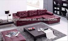 Modern Home / Office design L shaped Genuine Leather Corner Sofa with Chiase Longue modular sofa 8002-23