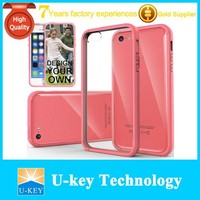 2015 High quality For iPhone Case 5C Hybrid Fusion Clear Back Slim Bumper Cover For ebay Selling